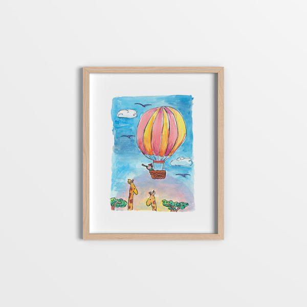 Balloon safari art print