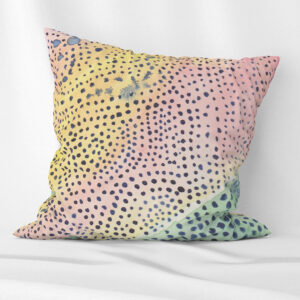 Watercolour abstract scatter cushion