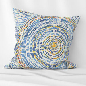 Abstrac circles blue scatter cushion