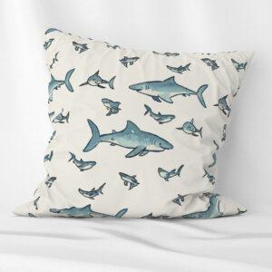 Happy sharks cushion for kids