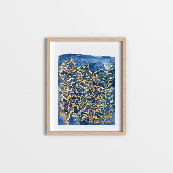 Ocean and kelp underwater art print
