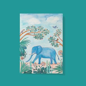 Elephant and leaves card