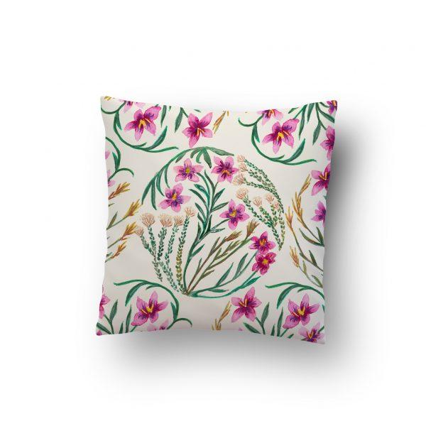 Fynbos flowers cushion design
