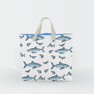 Shark beach bag