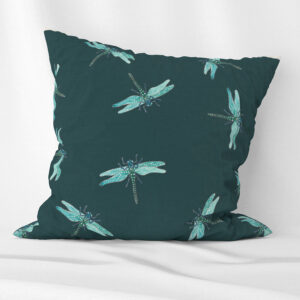 Dragonfly design scatter cushion