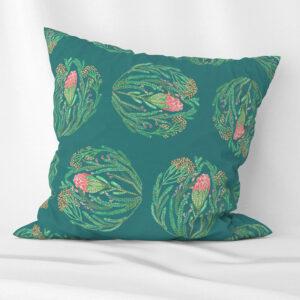 Protea design scatter cushion