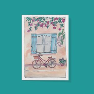 Cafe bicycle card