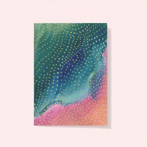 Tie dye card