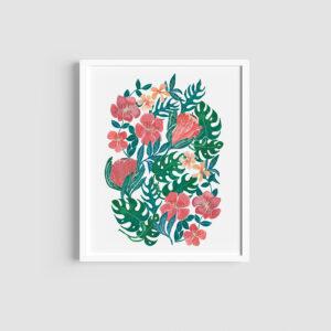 Cape and tropical botanical print