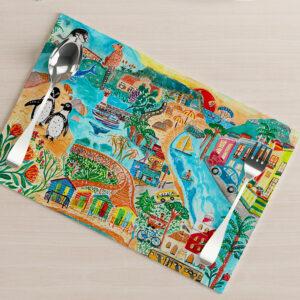 Cape Town design placemat
